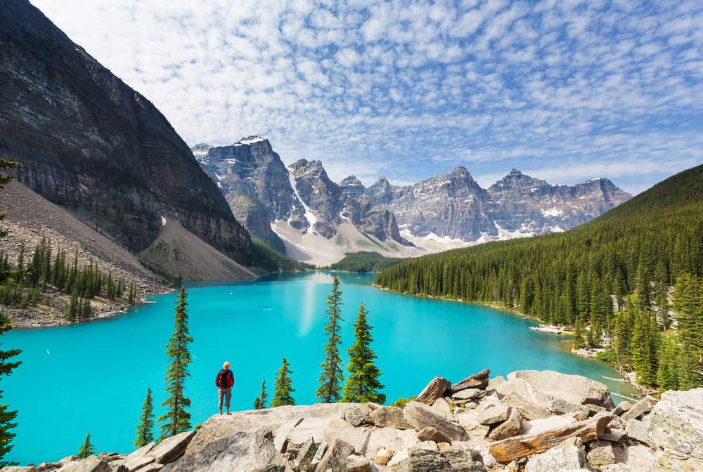 Lac Banff dans les Rocheuses canadiennes