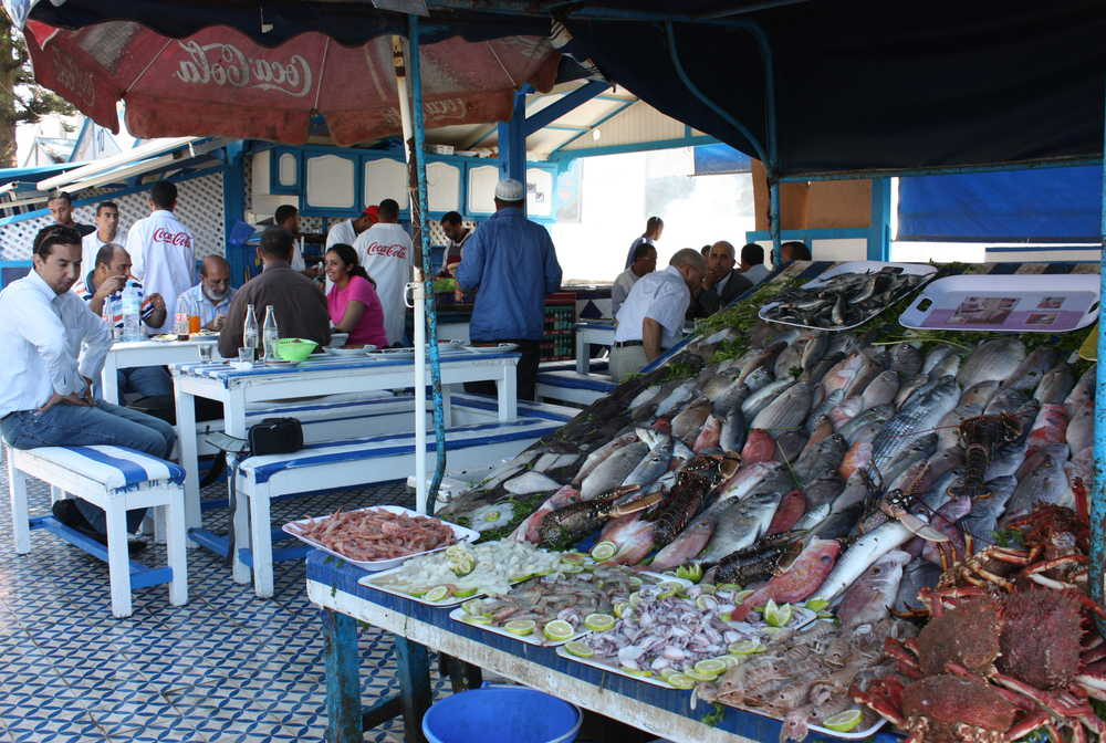 Marché aux poissons Essaouira Maroc