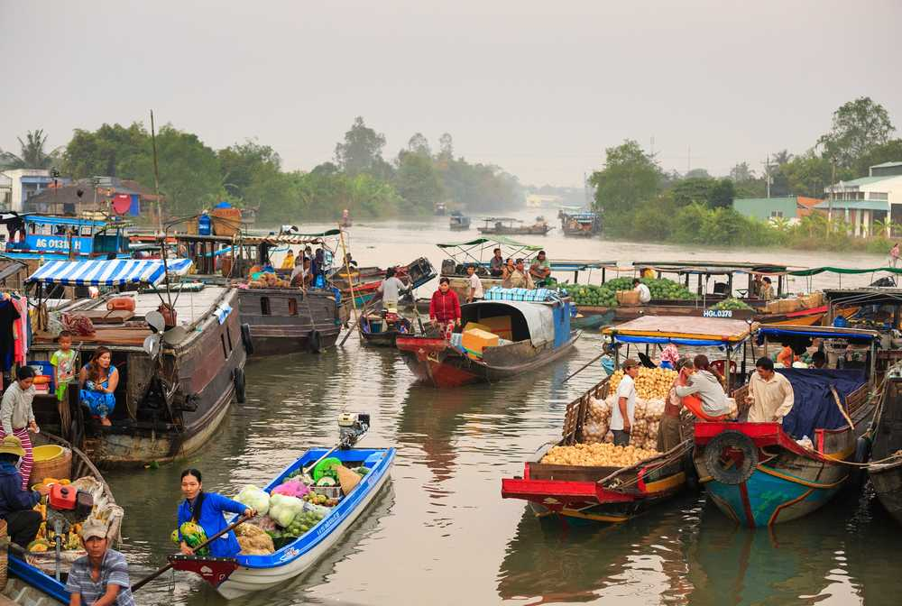 Marché flottant du Mékong