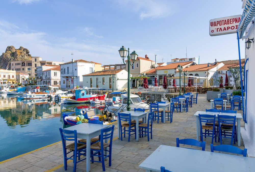 Petit port de Myrina, Limnos, Grèce