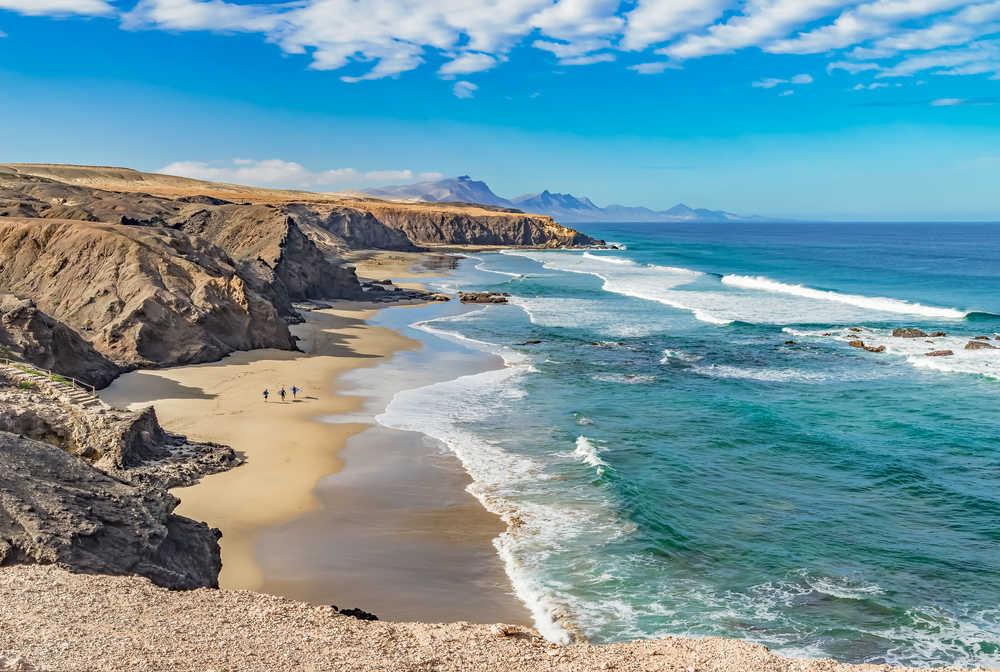 Plage à Fuerteventura, Viejo Rey