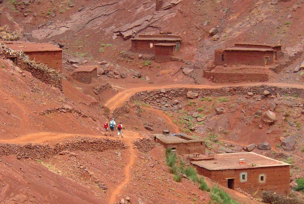 Vallée rouge, Toubkal, Maroc