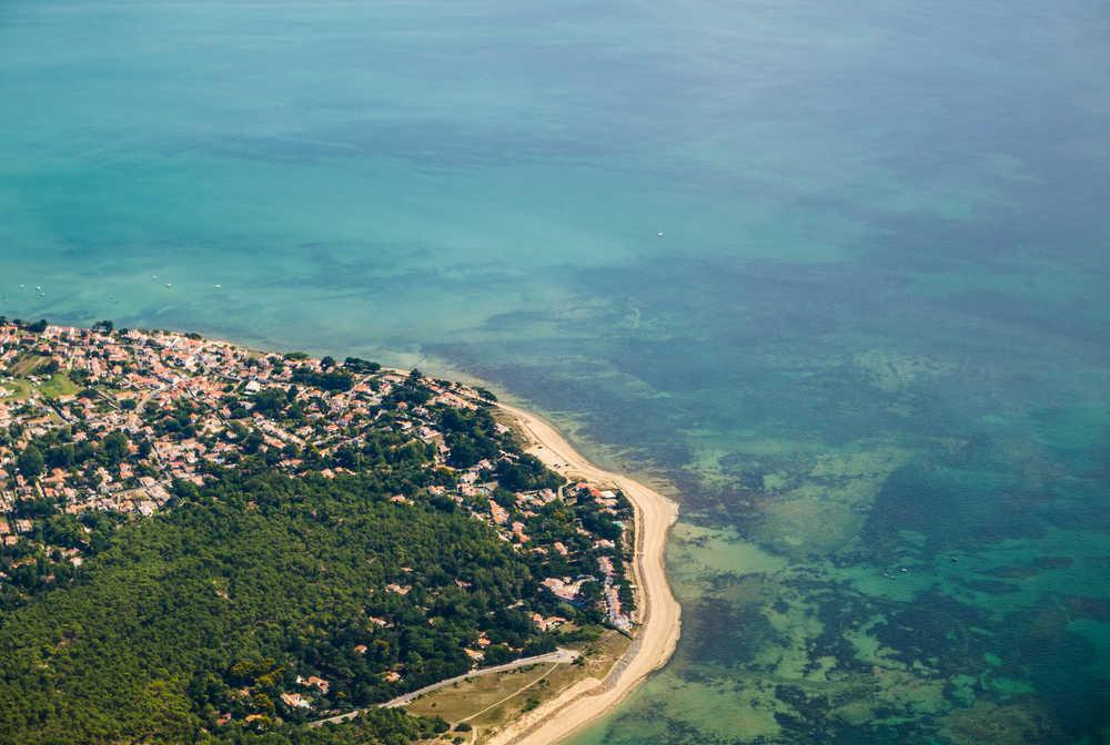 Vue aérienne de Noirmoutier