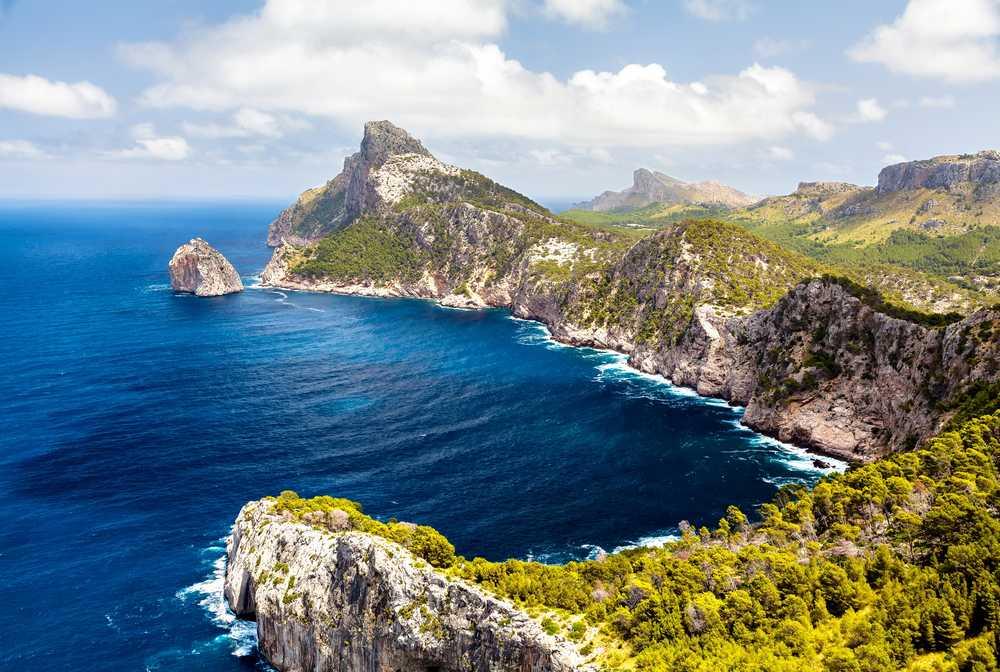 Vue panoramique du Cap de Formentor. Majorque
