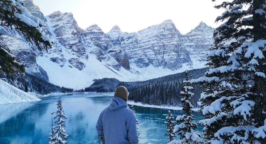 Dans les rocheuses canadiennes l'hiver
