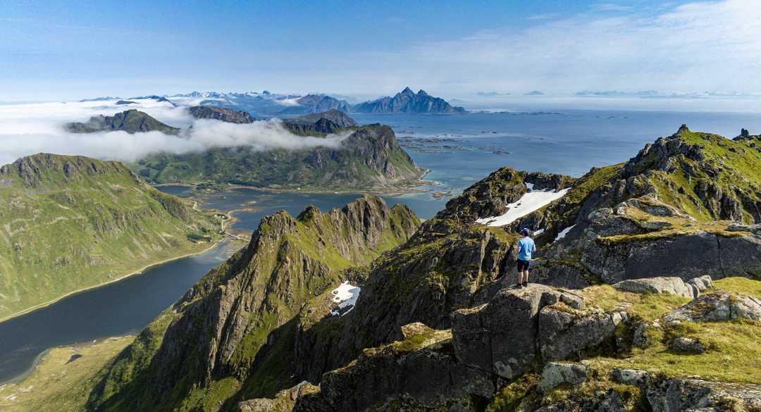 Justadtinden, îles Lofoten, Norvège