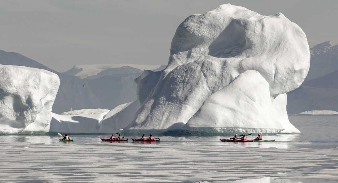Kayak à Disko au Groenland