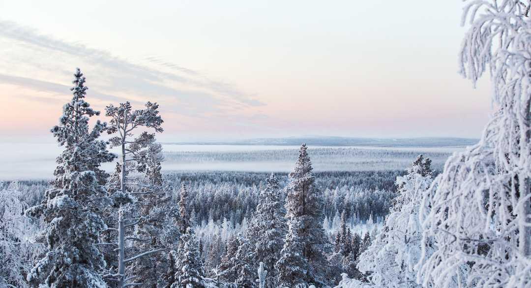 Paysage de Finlande l'hiver, Laponie