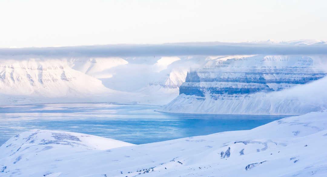 Paysage du Svalbard au printemps