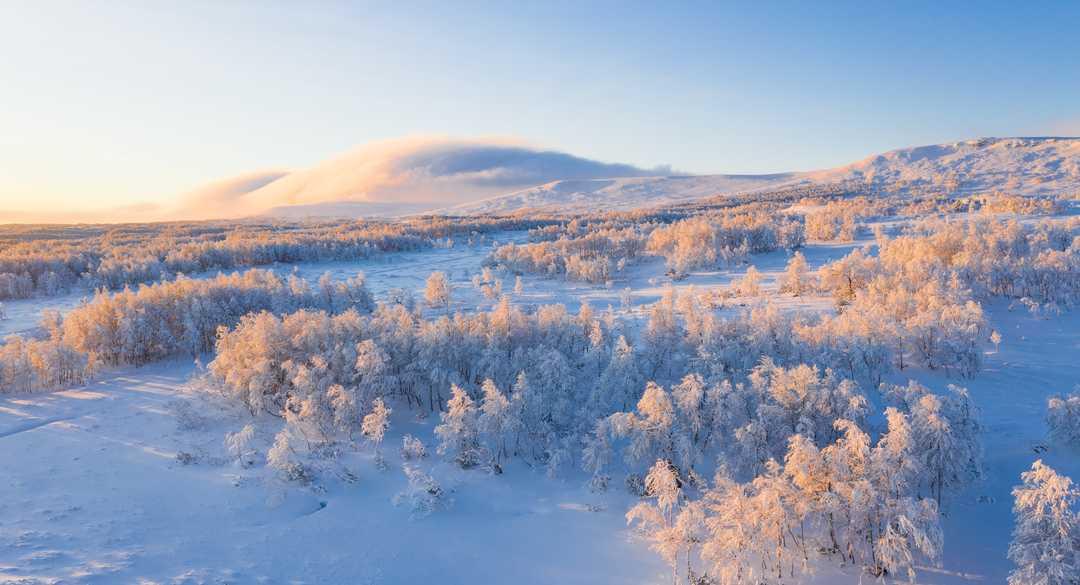 Rockvallen, Suède l'hiver