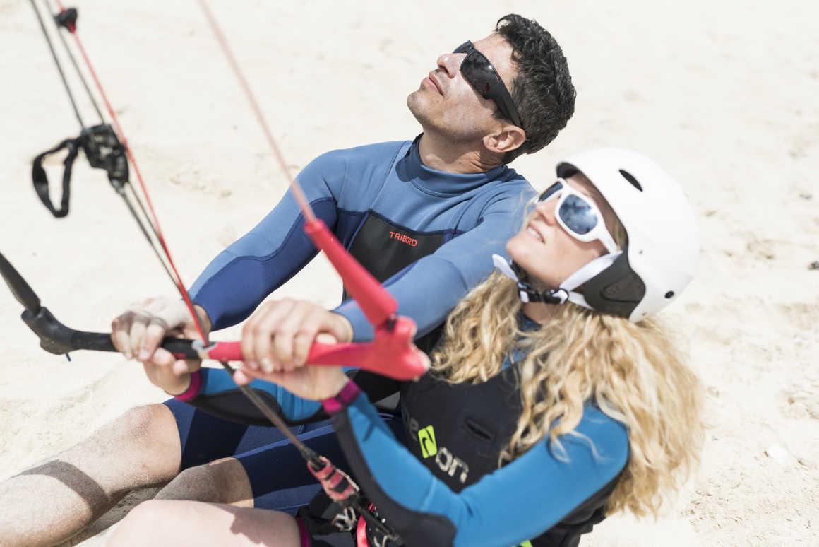 Cours de kitesurf à Flag Beach, Fuerteventura