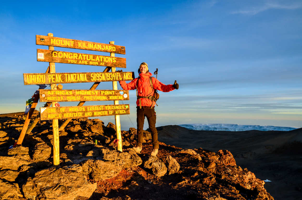 Sommet du pic Uhuru Mont Kilimandjaro