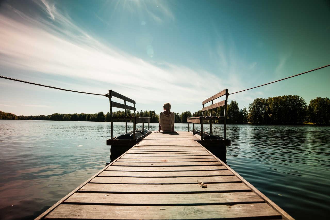 Au bord du lac de Finlande
