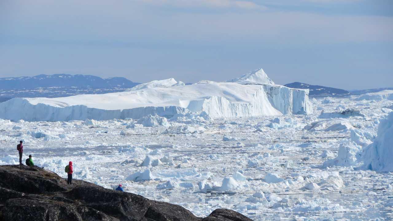 FJord glacé d'Ilulissat, face aux icebergs, Groenland