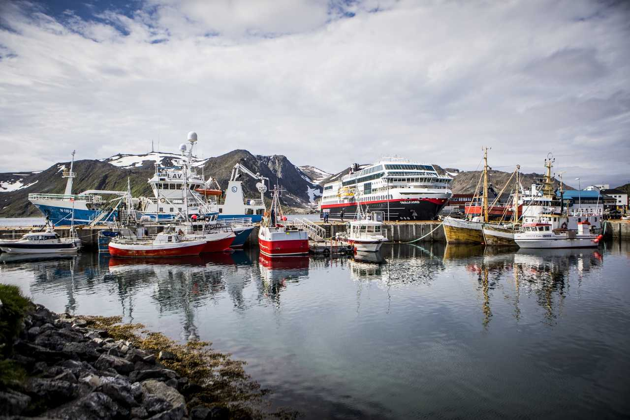 Bateau dans un port de Norvège