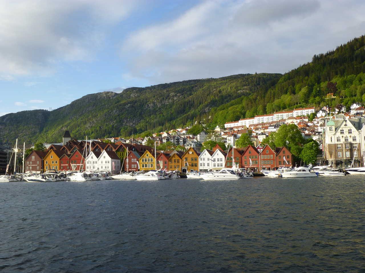 Bergen l'été en Norvège