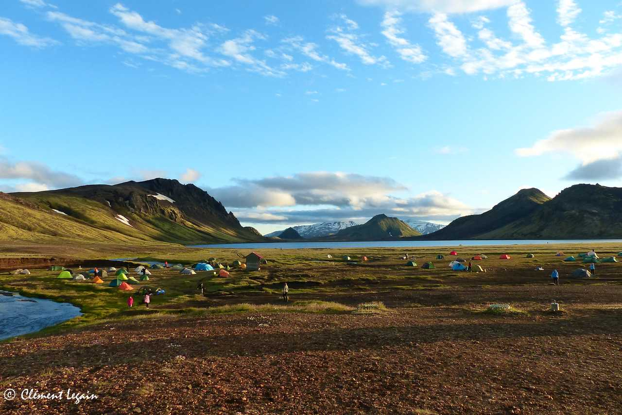 Bivouac lors d'un trek en Islande
