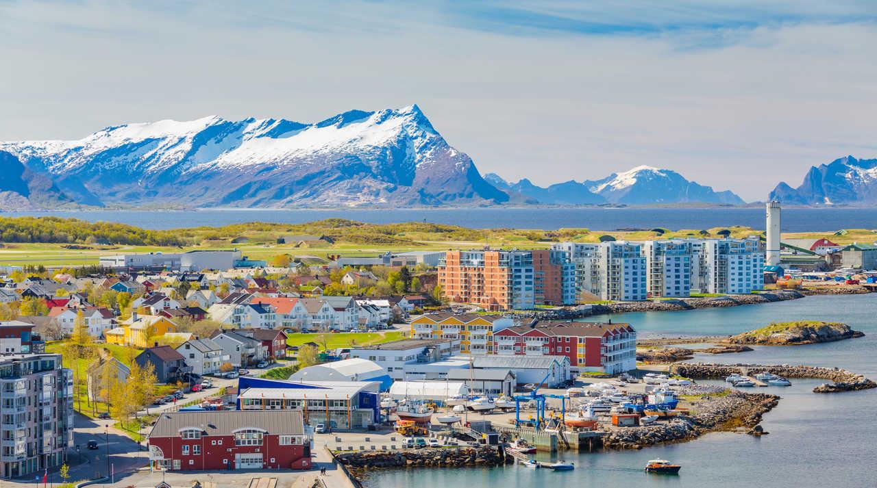 ville de Bodo en Norvège