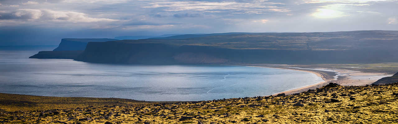 Photo de la plage de Breidavik en Islande