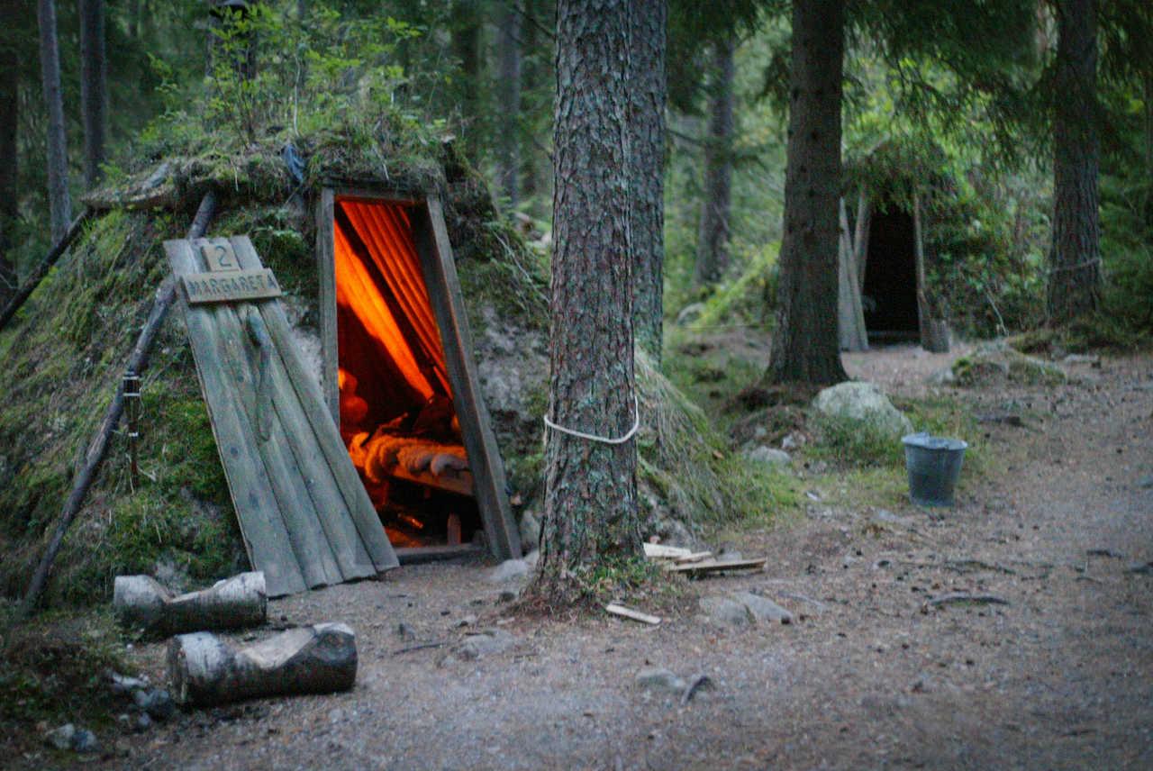 Cabane dans les forêts de Suède