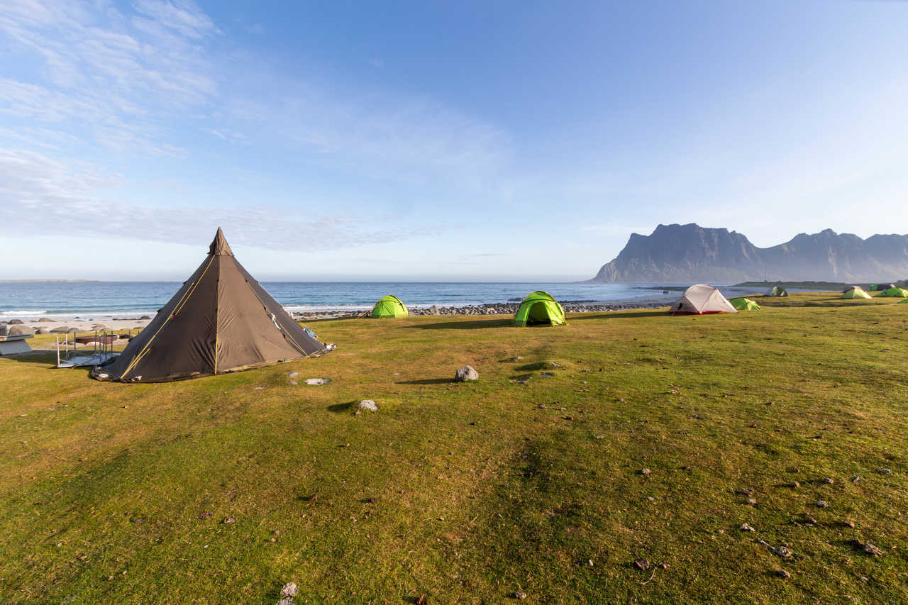 Camping Norvège été, Uttakleiv îles Lofoten