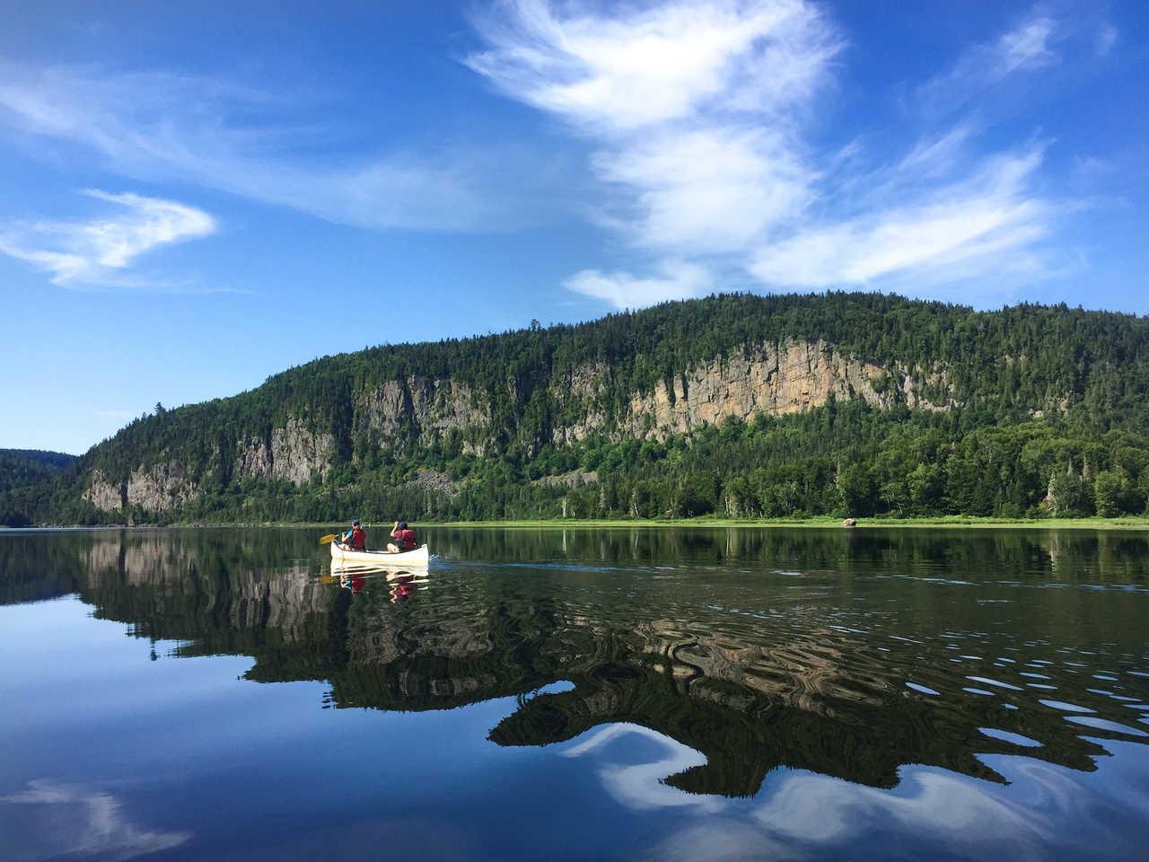 Canoe au Canada, rivière du Québec