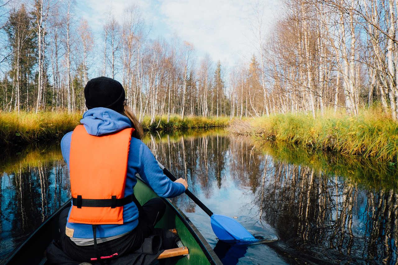Canoe en Finlande l'été