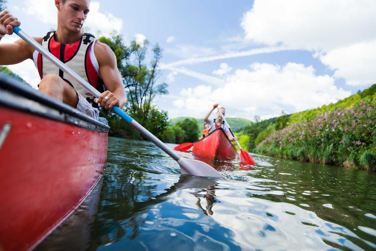 Canoe l'été au Québec