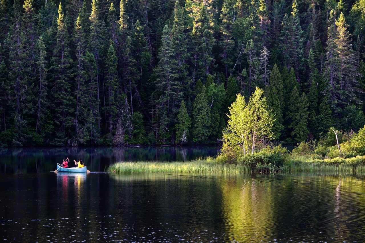 Canoe sur les rivières du Canada
