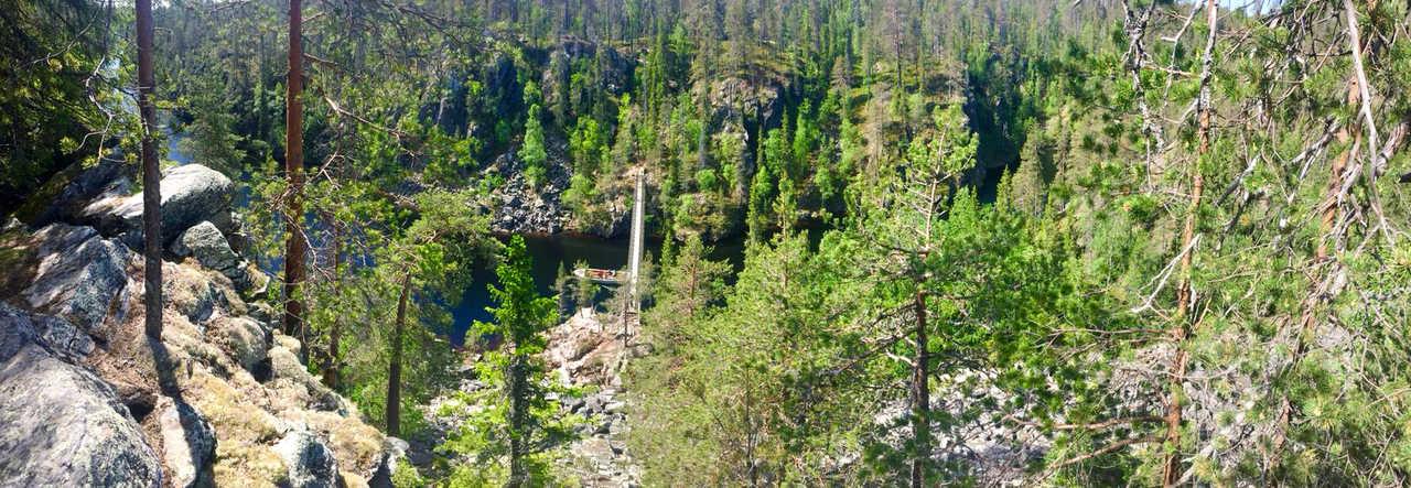 Canyon en Finlande, parc de Hossa