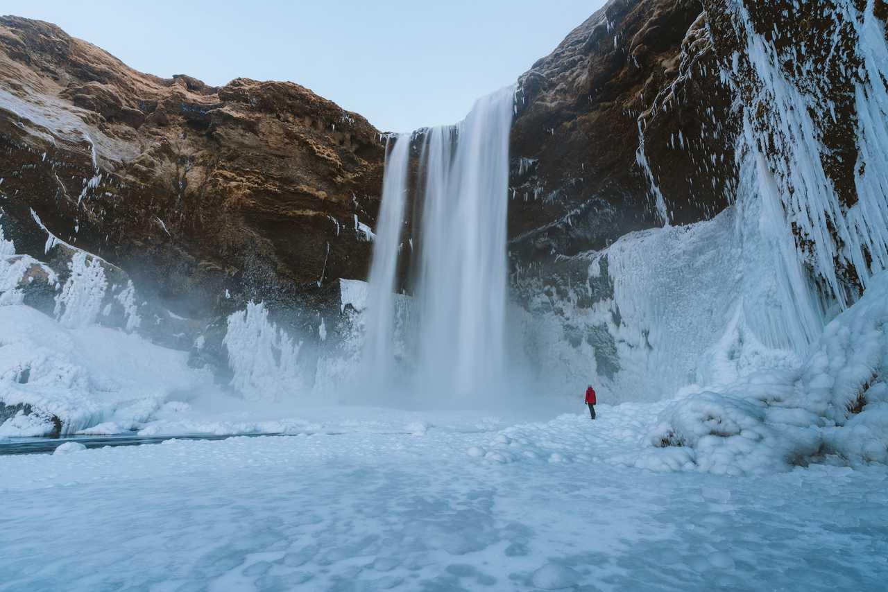 Cascade gelée de Skogafoss