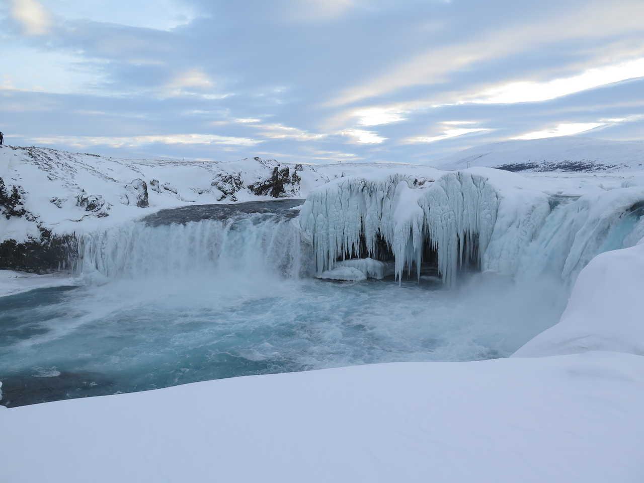 Cascade gelée en Islande