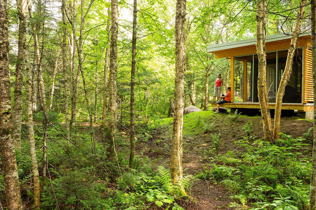 Chalet dans le Parc national de la Jacques-Cartier au Québec