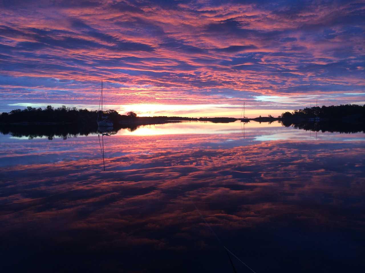 Coucher de soleil en Suède