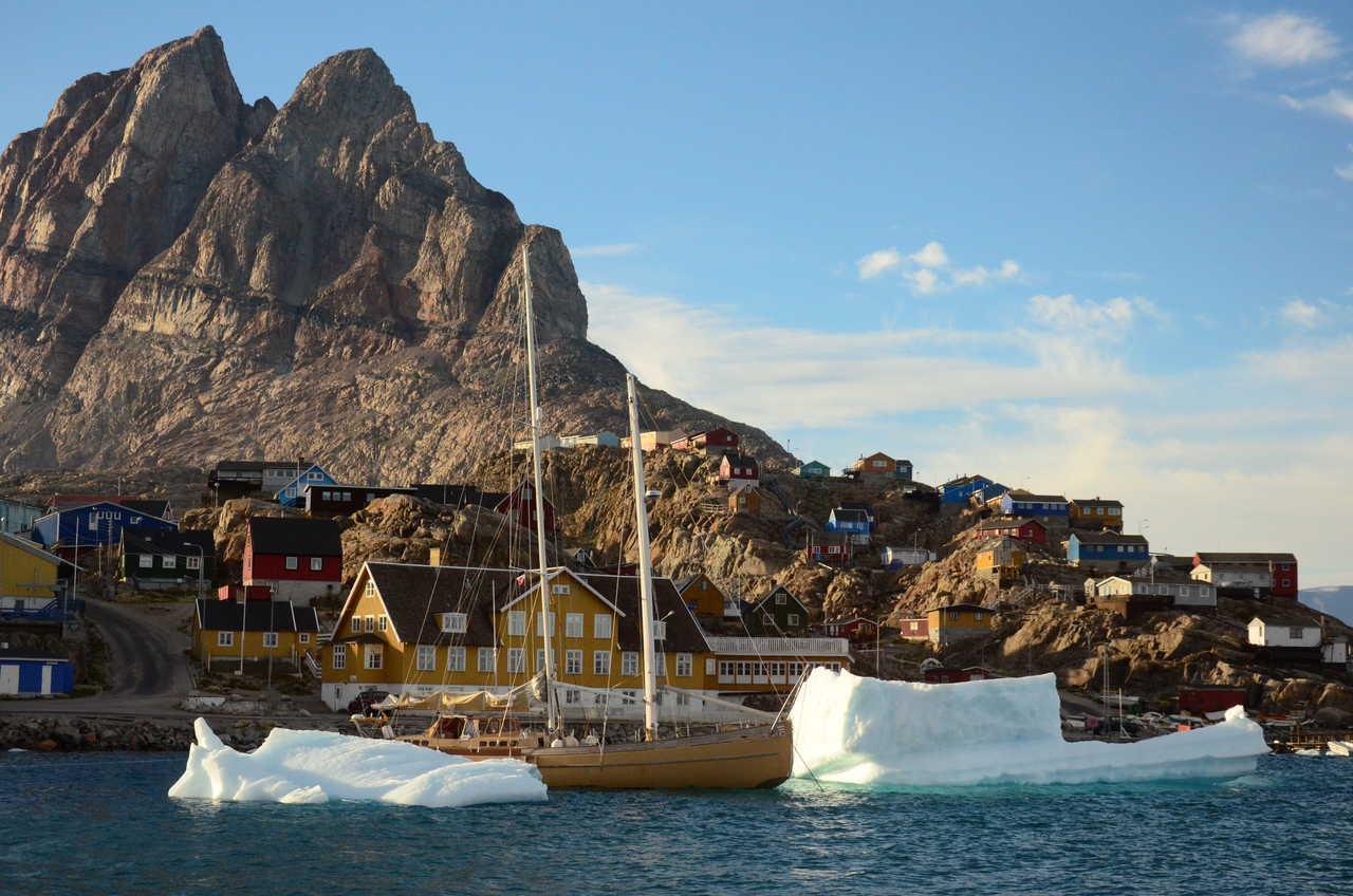 Photo de la goelette la Louise, Groenland