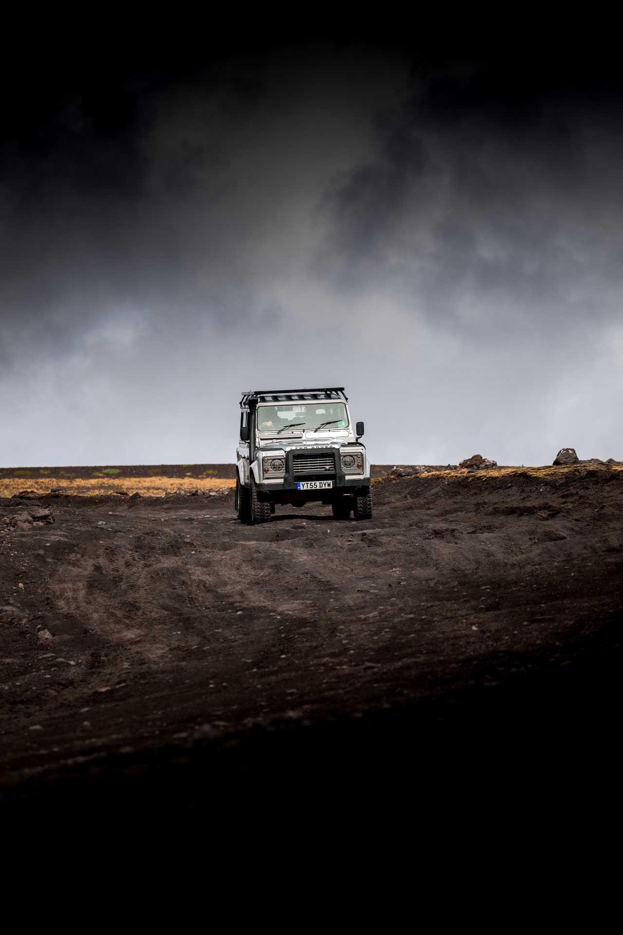 Defender dans les hautes terres de l'Islande