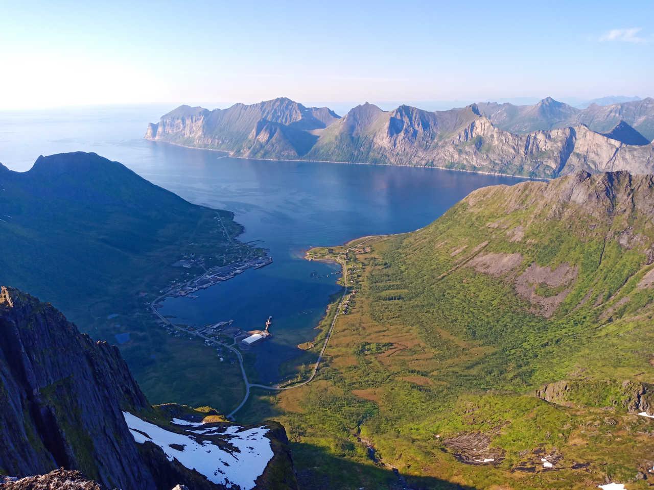 Depuis les sommets de Senja, Norvège du Nord