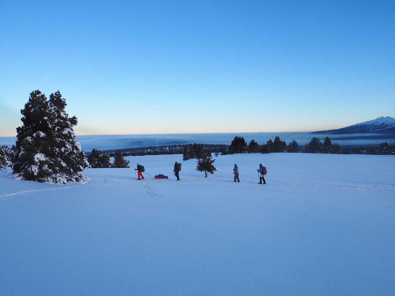 En ski de rando nordique sur les hauts plateaux du Vercors