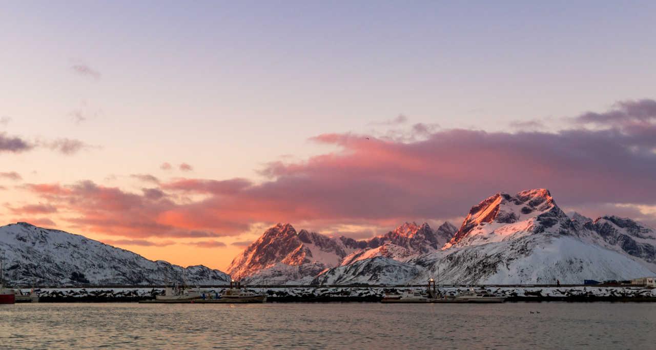 Fredvang coucher de soleil