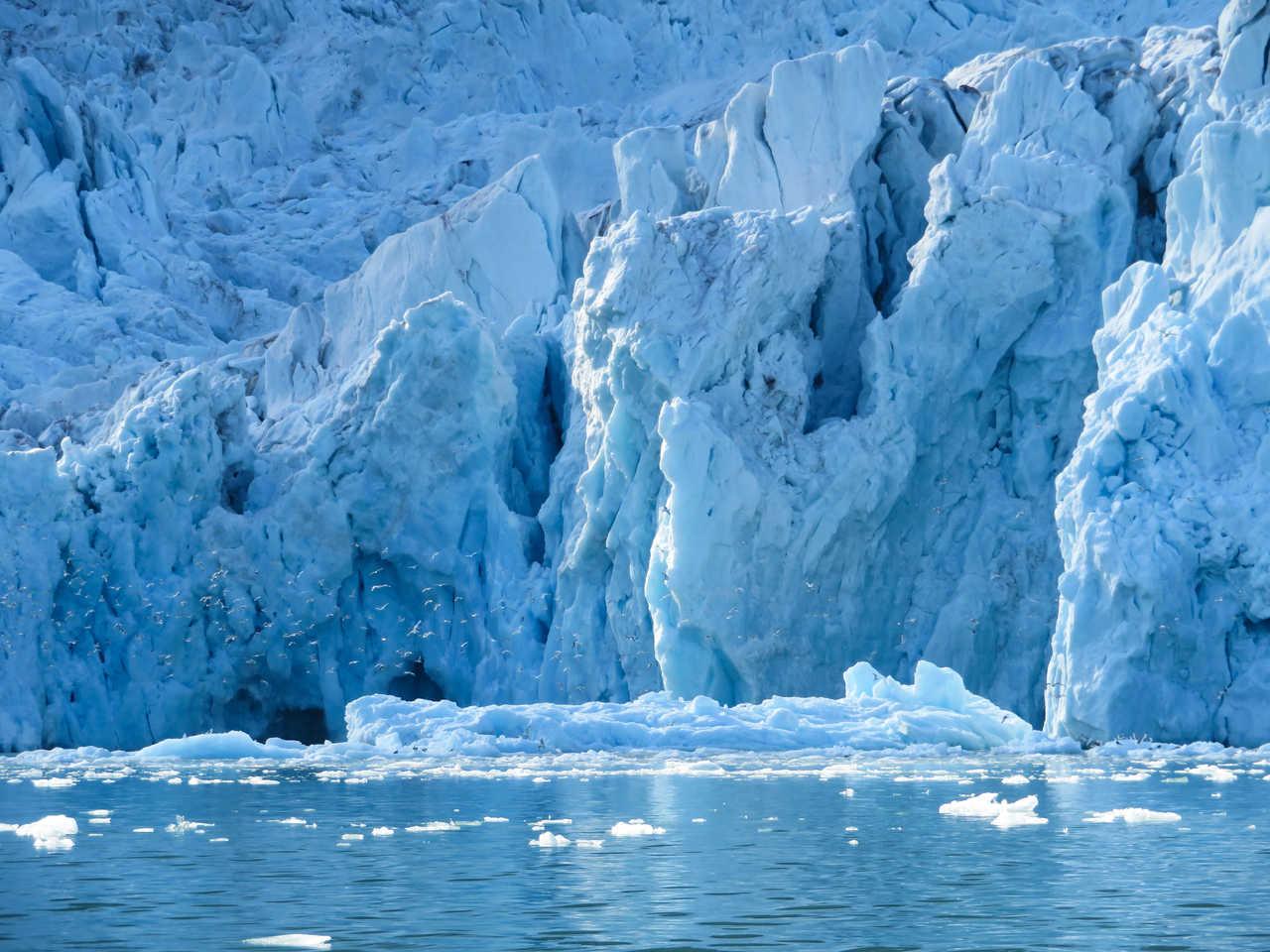 Glacier arctique au Spitzberg