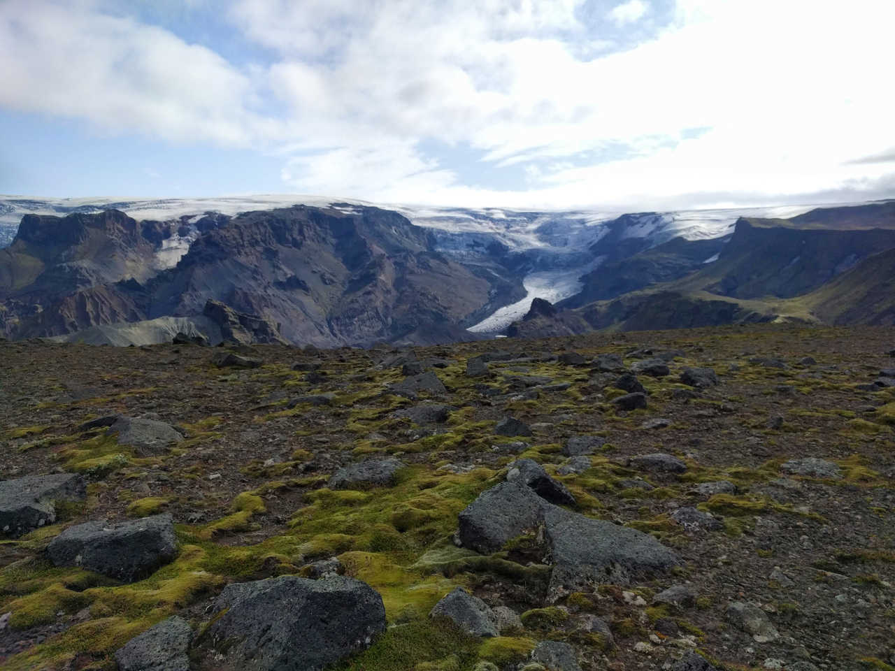 Glacier de Myrdalsjokull en Islande