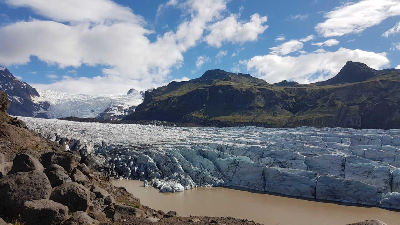 Glacier du vatnajokull, Islande
