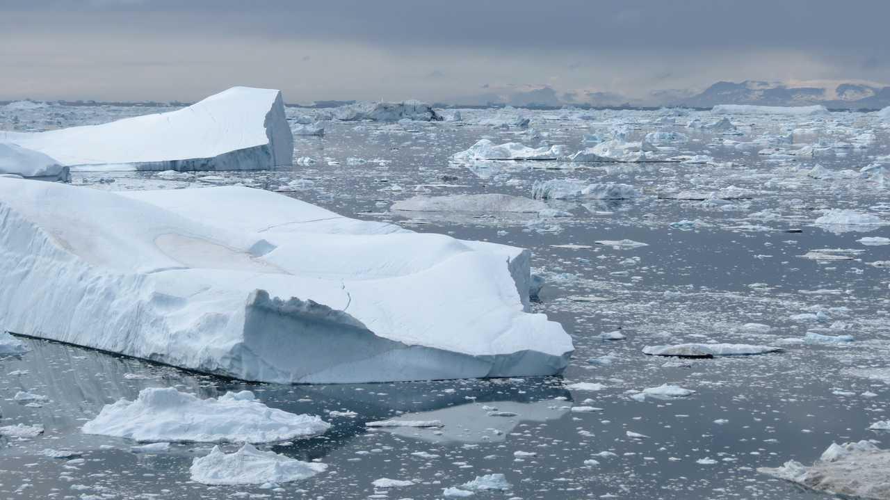 Icebergs baie de Disko, Groenland