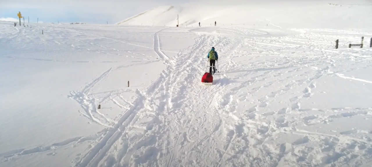 Initiation ski-pulka dans les Alpes