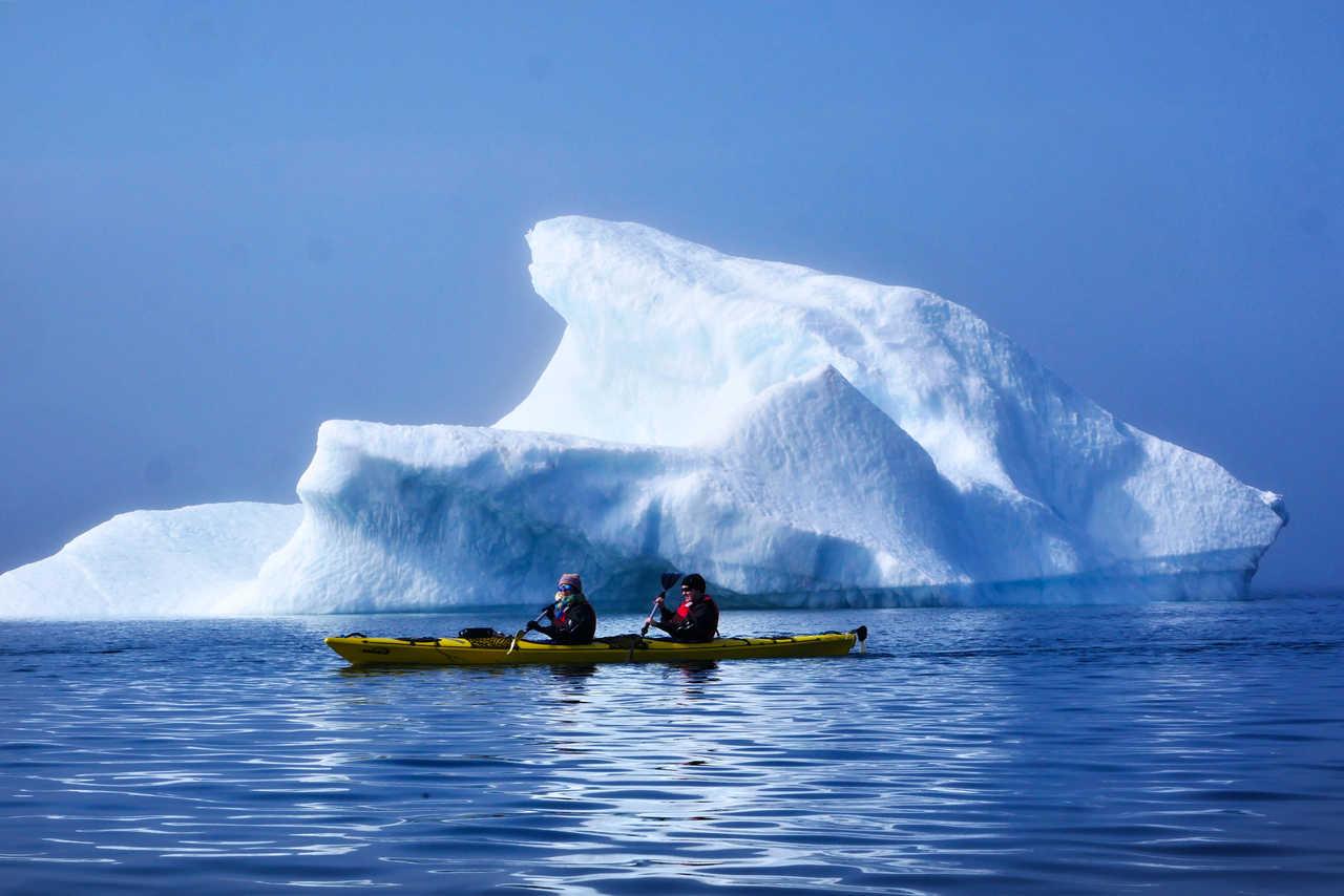 kayak de mer en Arctique, Groenland
