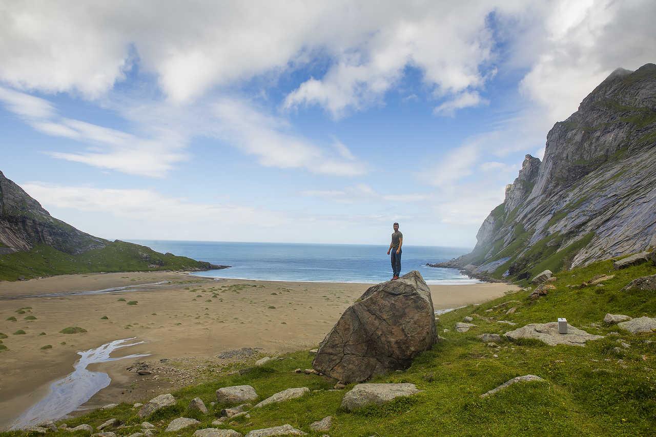 Randonnée lors d'une croisière dans les iles lofoten