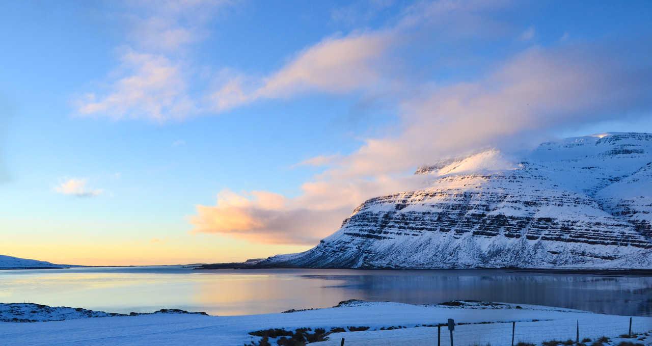 L'Islande en hiver, jour polaire