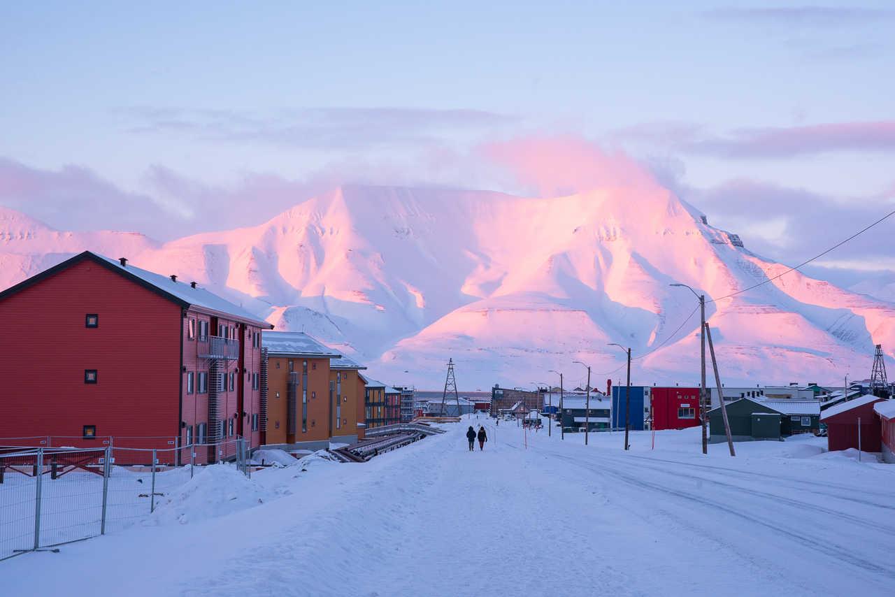 La ville de Longyearbyen au Spitzberg