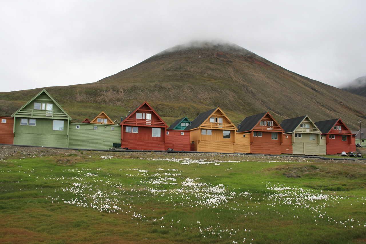 Maisons colorées de Longyearbyen Norvège