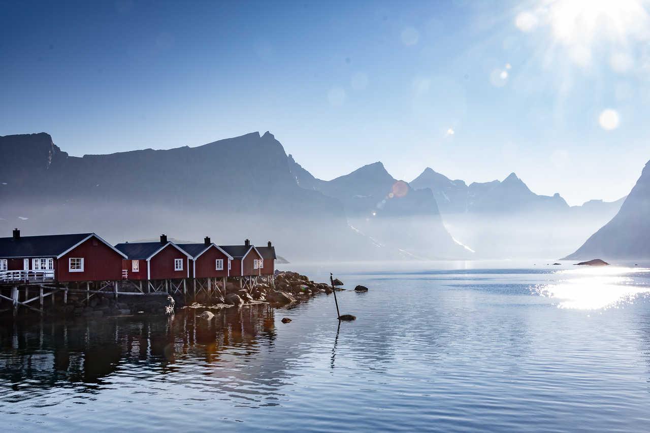 Maisons norvégiennes aux iles Lofoten